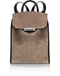Alexander Wang | Prisma Backpack In Suede And Ostrich Embossed Greige | Lyst