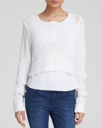 Elie Tahari Elenore Layered Knit Sweater - Lyst