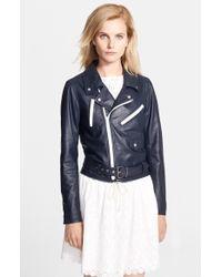 Band of Outsiders Multi Zipper Leather Moto Jacket - Lyst