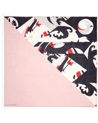 Alexander McQueen Half Kite Print Silk Chiffon Scarf - Lyst