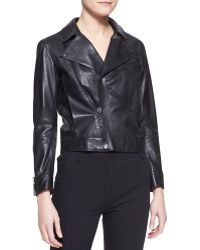 Kenzo Leather Zip Motorcycle Jacket - Lyst