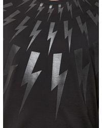 Neil Barrett | Flashes Printed Cotton Jersey T-shirt | Lyst
