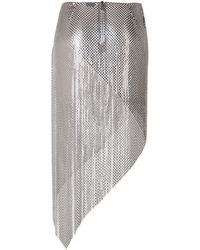 Paco Rabanne Chain Metal Skirt - Lyst