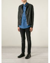 Wlg By Giorgio Brato - Perforated Biker Jacket - Lyst