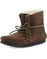 Isabel Marant Eve Shearling Moccasin Boot - Lyst