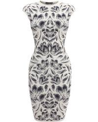 Alexander McQueen Tulip Puckering Jacquard Mini Dress - Lyst