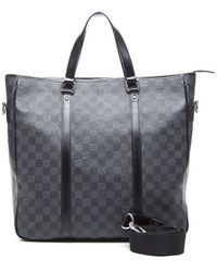 Louis Vuitton Pre-owned Damier Graphite Tadao Tote Bag - Lyst