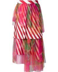 Manish Arora Pleated Skirt - Lyst