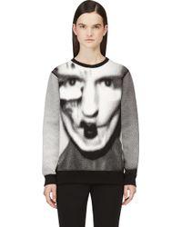 Gareth Pugh Black and White Pixelated Graphic Sweatshirt - Lyst