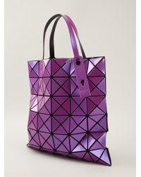 Issey Miyake Geometric Pattern Tote Bag - Lyst