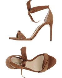 Alexandre Birman Brown Sandals - Lyst