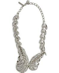 Oscar de la Renta Feather Necklace Feather Necklace - Lyst