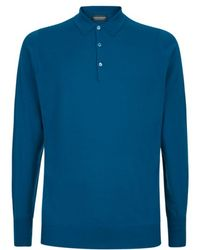 John Smedley Cotswold Long Sleeve Polo Shirt - Lyst