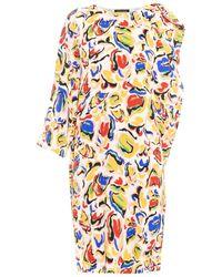 Saloni Sara Paint-Print Dress - Lyst