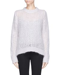 Sandro Stage Mohair Open Knit Sweater - Lyst