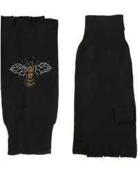 Autumn Cashmere Black Bee Gloves - Lyst