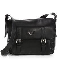 Prada Soft Calf Messenger Bag - Lyst