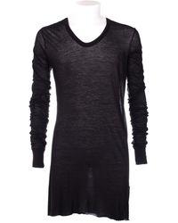 Rick Owens Long Arm Black T-Shirt - Lyst