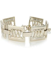 Topman Gold Rectangle Bracelet - Lyst
