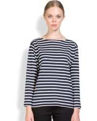Saint Laurent Striped Tee - Lyst