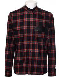 Givenchy | Camicia Stampa Plaid Con Dettaglio Pelle | Lyst