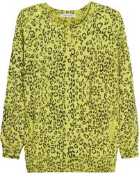 Pierre Balmain Leopardprint Cotton Sweatshirt - Lyst