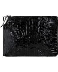 Giuseppe Zanotti - Croc Embossed Patent Leather Pouch - Lyst