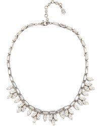 Ben-Amun - Crystal Petal Necklace - Clear - Lyst