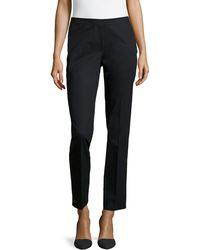 Lafayette 148 New York Side Ankle-zip Cropped Pants - Lyst