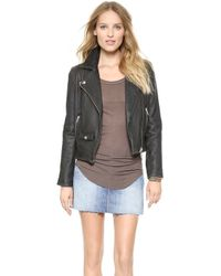 ELEVEN PARIS - Fringe Leather Jacket - Black - Lyst