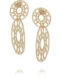 Isharya - Goldplated Filigree Earrings - Lyst