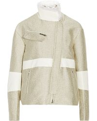 Elizabeth And James Derek Shearling Trimmed Jacquard Jacket - Lyst