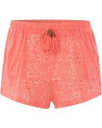 Biba - Burn Out Jersey Shorts - Lyst