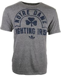 Adidas Mens Notre Dame Fighting Irish Tri-blend Graphic T-shirt - Lyst