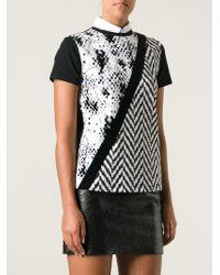 Emanuel Ungaro Mixed Print Tshirt - Lyst