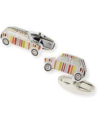 Paul Smith Multi-Stripe Mini Car Cuff Links - Lyst
