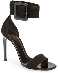 Saint Laurent Women'S 'Jane' Ankle Strap Sandal - Lyst