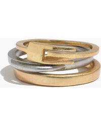 Madewell Flipswitch Stacking Rings - Lyst