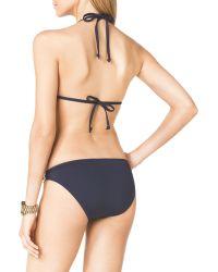 MICHAEL Michael Kors Triangle Bikini Top with Hardware - Lyst