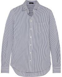 Joseph Striped Cotton Blend Shirt - Lyst