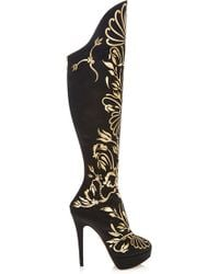 Charlotte Olympia Prosperity Metallicappliquãd Overtheknee Boots - Lyst