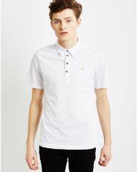 Farah | Polo Shirt White | Lyst