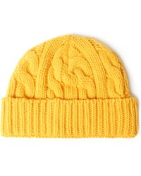 0b13348f9ee Oliver Spencer - Cable Knit Wool-Blend Beanie Hat - Lyst