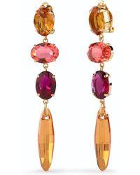 Pink Pony - Topaz Clip Earrings - Lyst