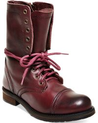 Steve Madden Troopa 2.0 Combat Boots purple - Lyst