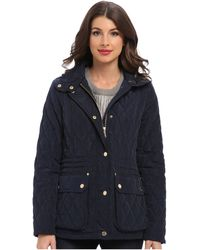 Michael by Michael Kors Quilted Anorak Zip Fly Front Snap - Lyst