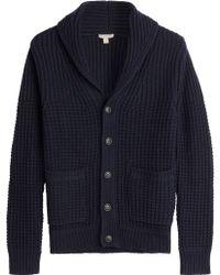 Burberry Brit - Wool-Cashmere Shawl Collar Cardigan - Blue - Lyst