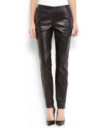 Theyskens' Theory Black Perfitol Leather Pants - Lyst