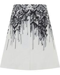 McQ by Alexander McQueen Drip Print Miniskirt - Lyst