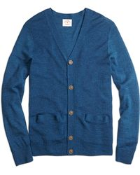 Brooks Brothers Merino Buttonfront Cardigan - Lyst